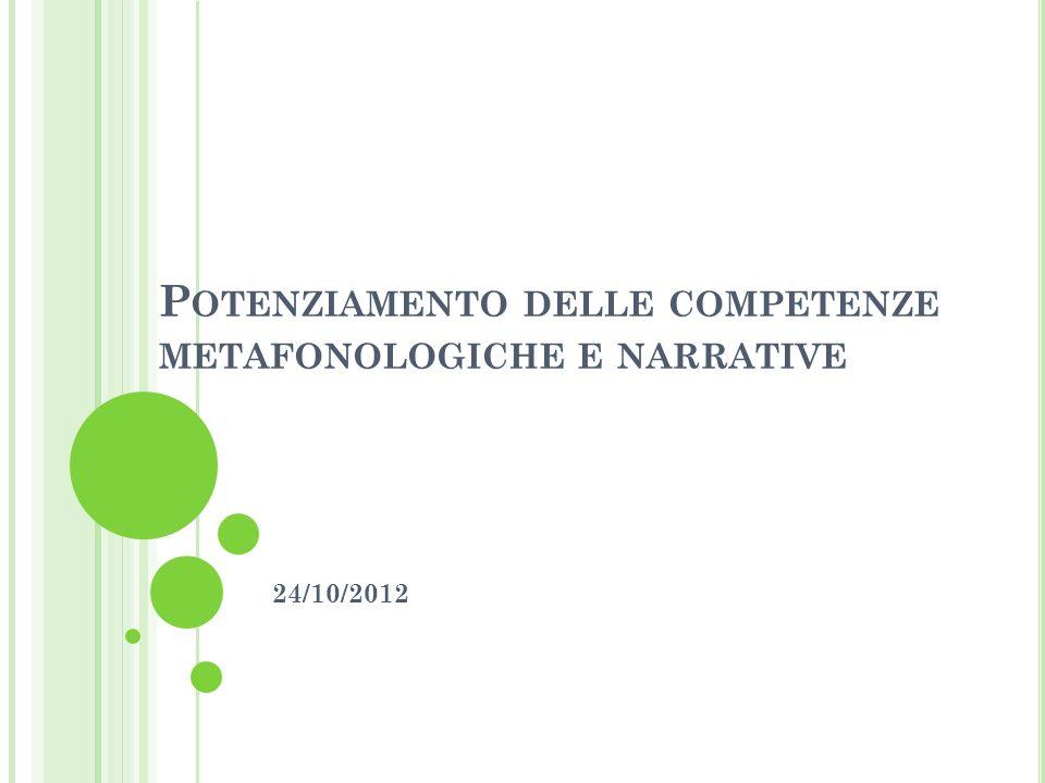 Potenziamento delle competenze metafonologiche e narrative