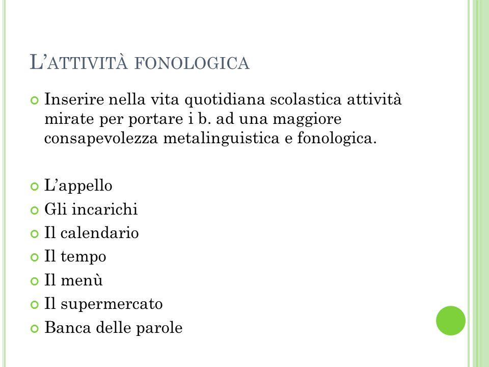 L'attività fonologica