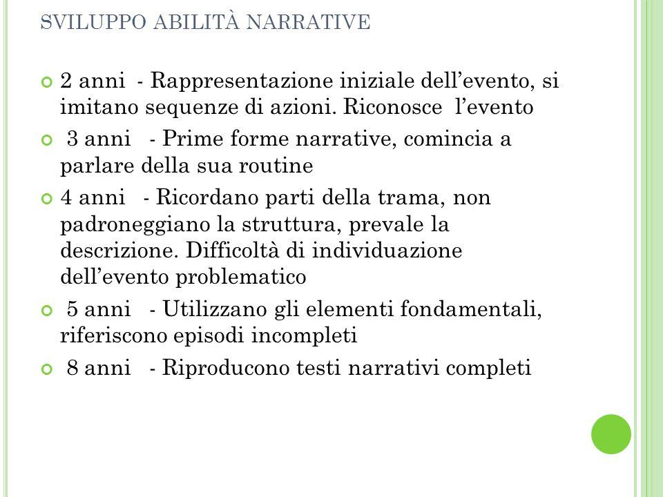 sviluppo abilità narrative