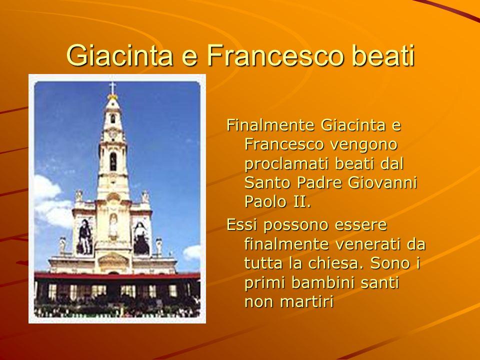 Giacinta e Francesco beati