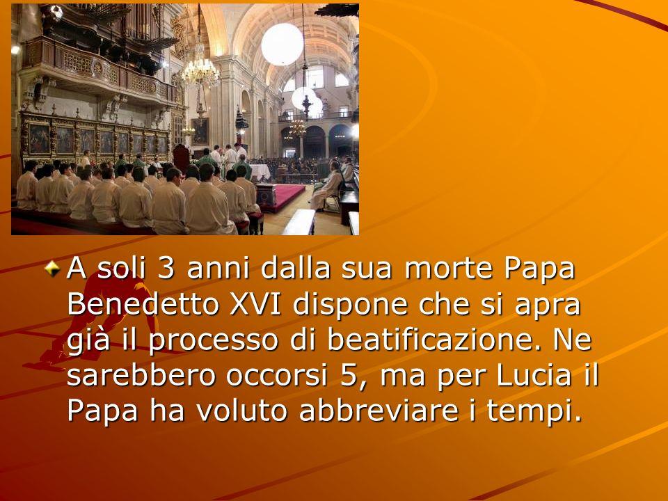 A soli 3 anni dalla sua morte Papa Benedetto XVI dispone che si apra già il processo di beatificazione.