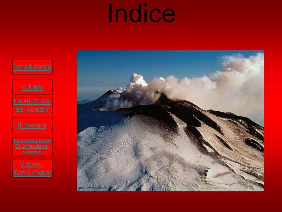 Indice Introduzione vulcani La struttura dei vulcani Il magma Vulcani