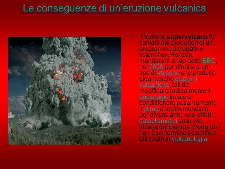 Le conseguenze di un'eruzione vulcanica