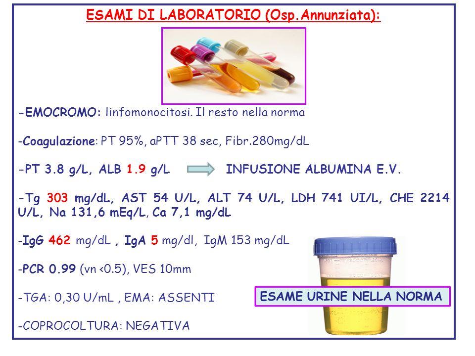 ESAMI DI LABORATORIO (Osp.Annunziata):