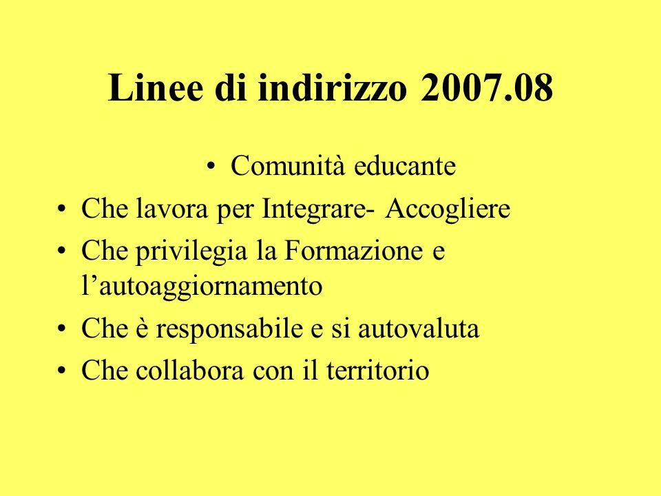 Linee di indirizzo 2007.08 Comunità educante