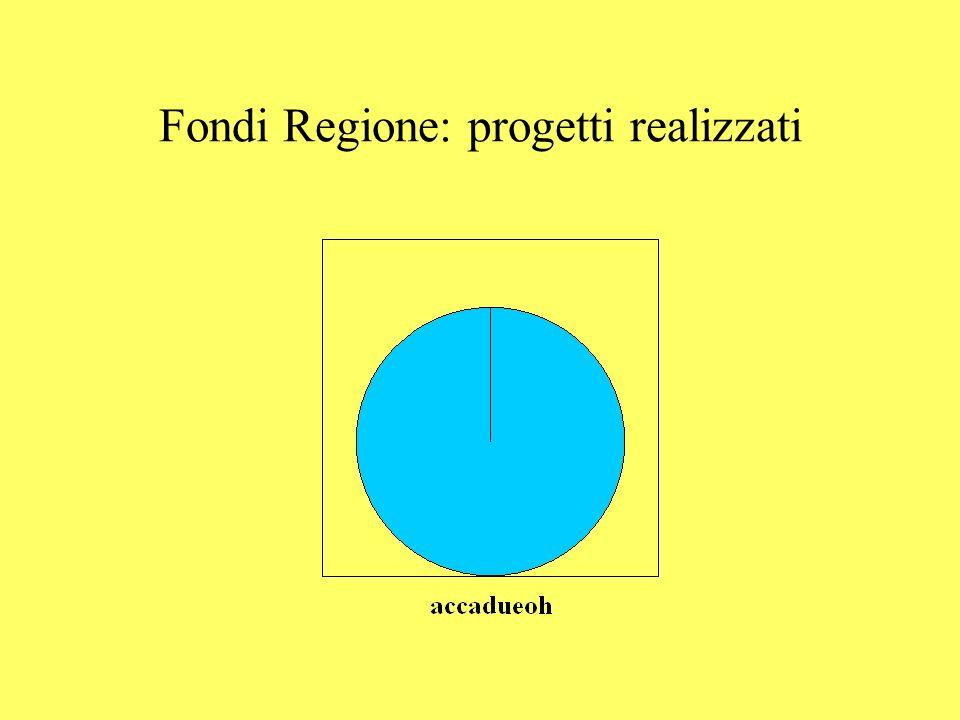Fondi Regione: progetti realizzati