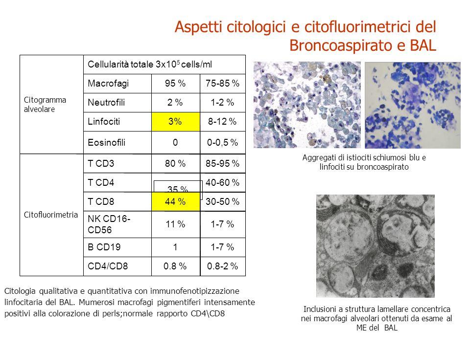Aspetti citologici e citofluorimetrici del Broncoaspirato e BAL