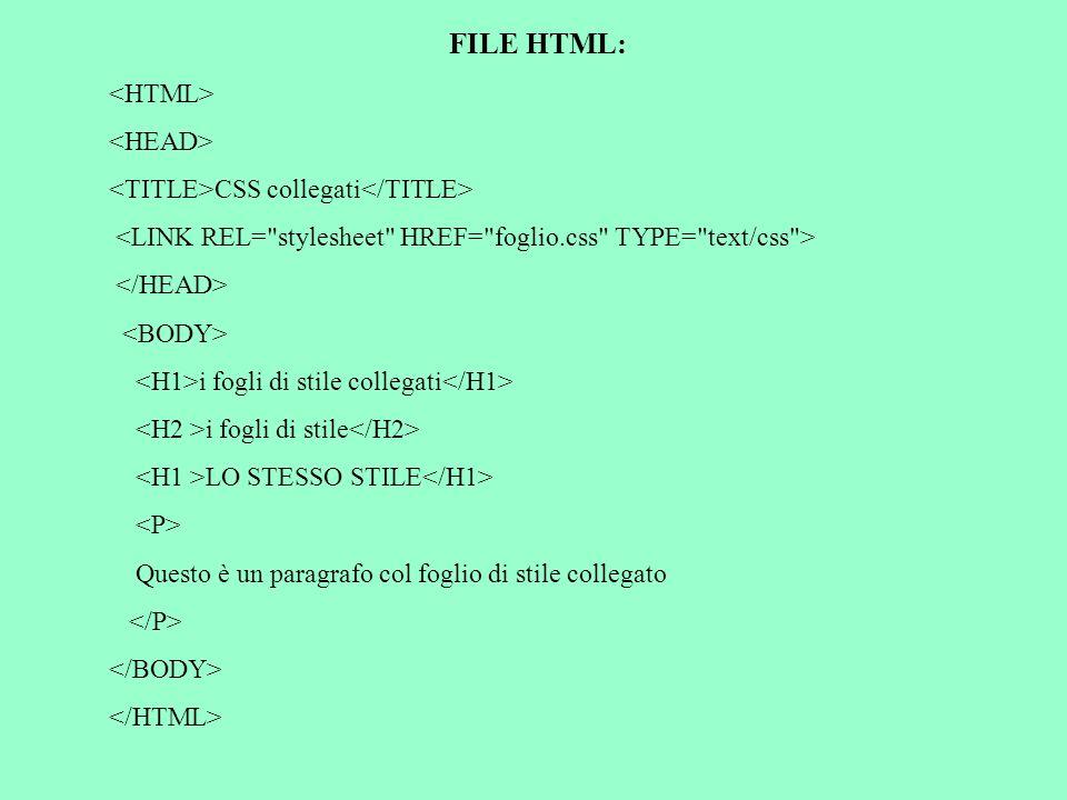 FILE HTML: <HTML> <HEAD>