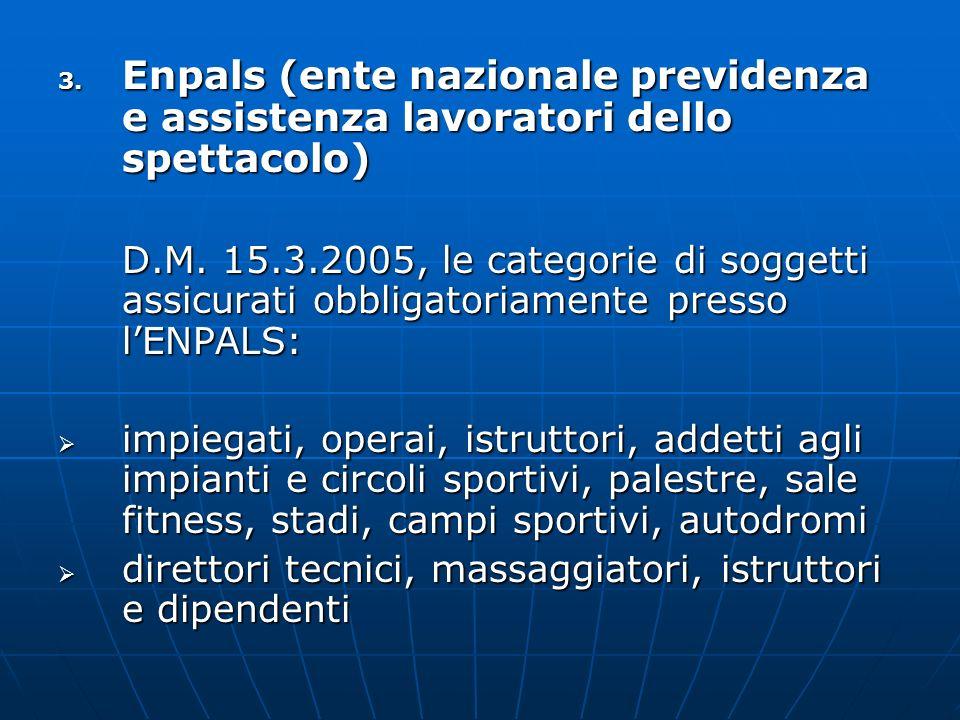 Enpals (ente nazionale previdenza e assistenza lavoratori dello spettacolo)