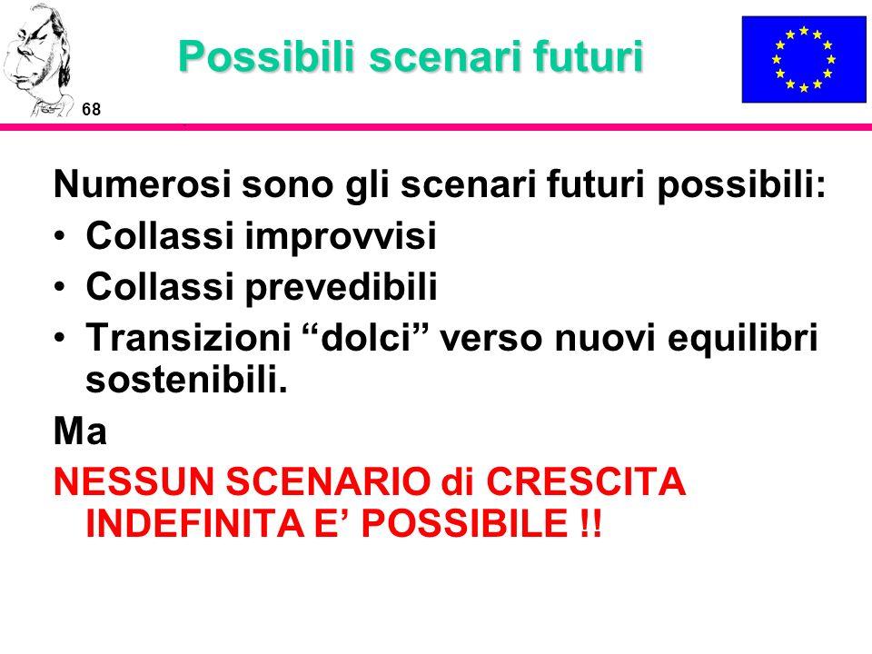 Possibili scenari futuri