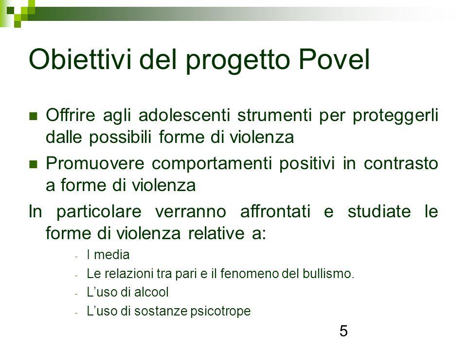 Obiettivi del progetto Povel