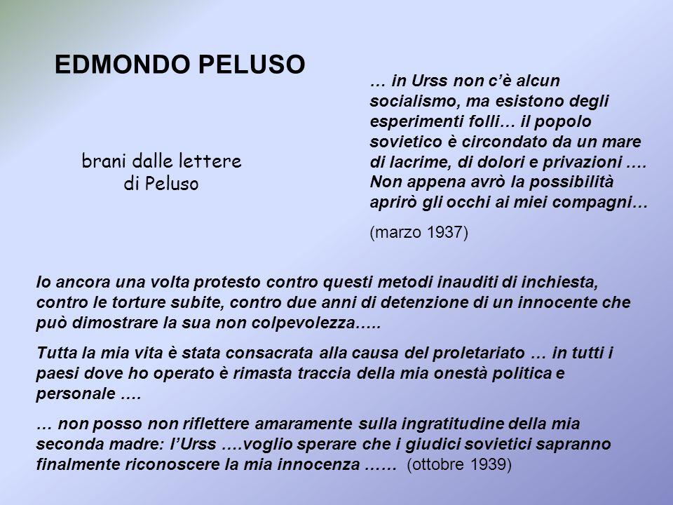 brani dalle lettere di Peluso
