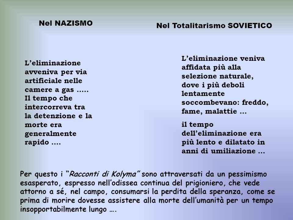 Nel NAZISMONel Totalitarismo SOVIETICO.