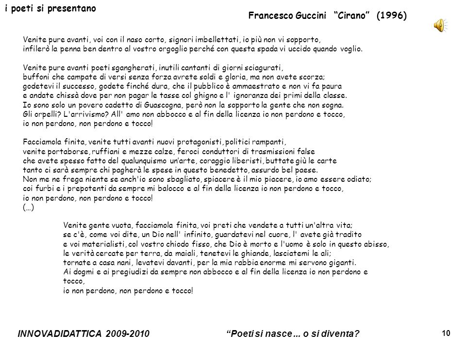 Francesco Guccini Cirano (1996)