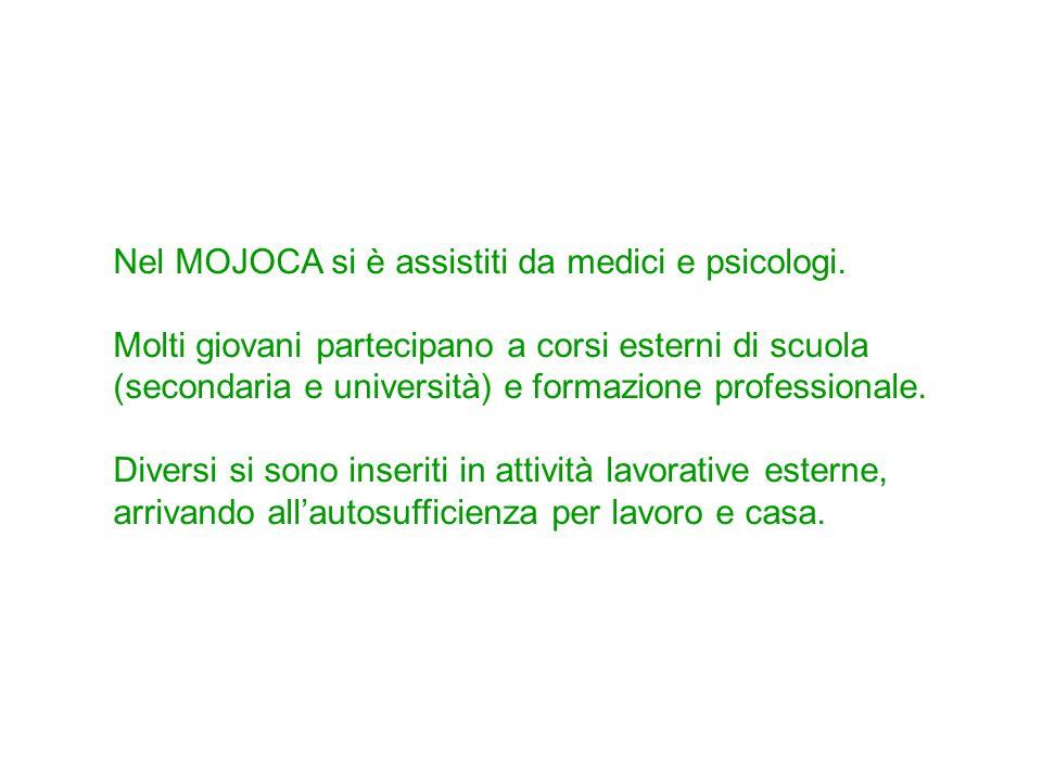 Nel MOJOCA si è assistiti da medici e psicologi.