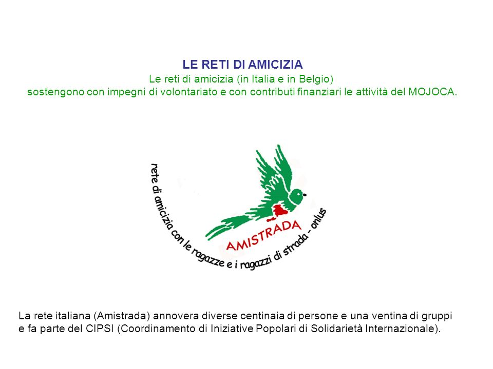 Le reti di amicizia (in Italia e in Belgio)