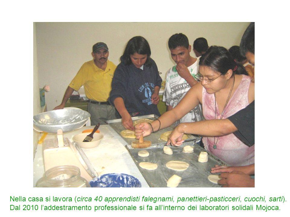 Nella casa si lavora (circa 40 apprendisti falegnami, panettieri-pasticceri, cuochi, sarti).