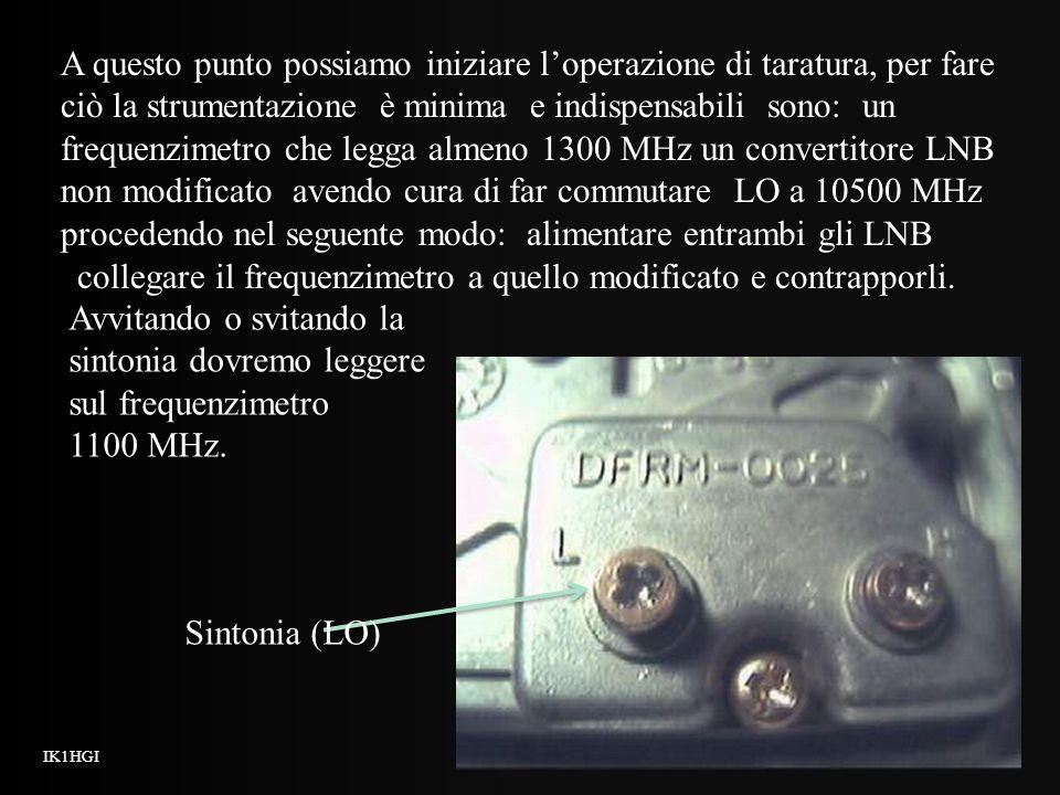 collegare il frequenzimetro a quello modificato e contrapporli.
