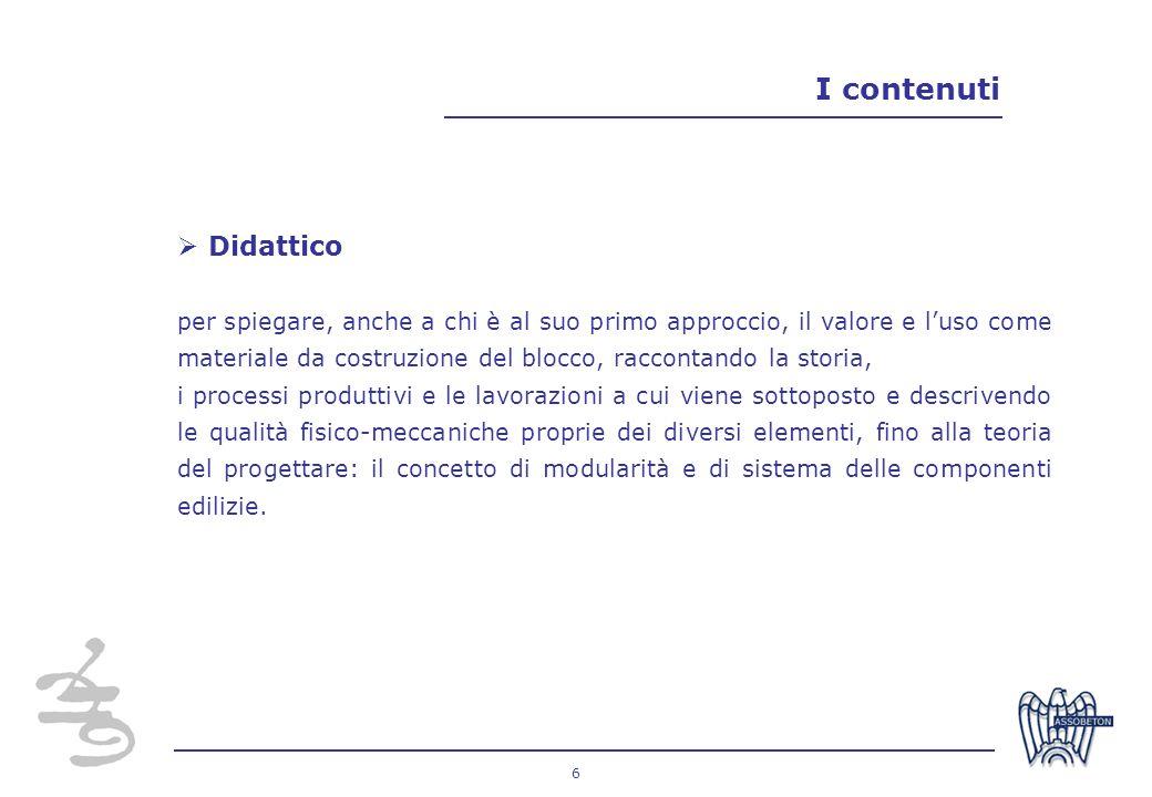 I contenuti Didattico.