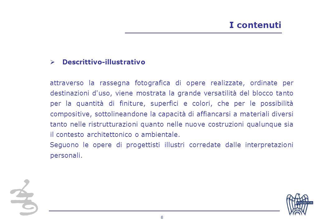 I contenuti Descrittivo-illustrativo