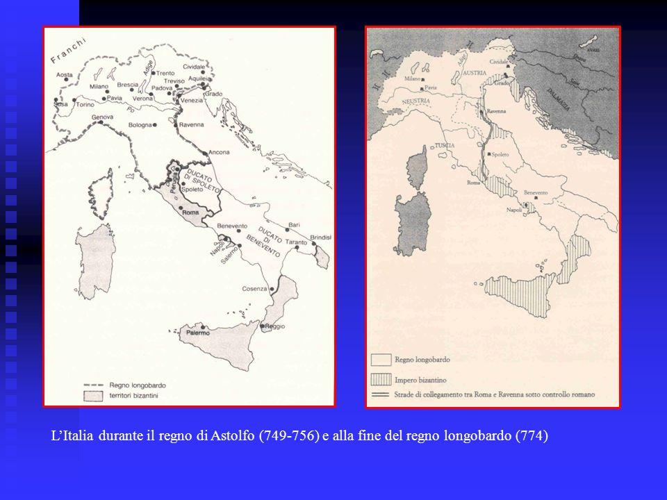 L'Italia durante il regno di Astolfo (749-756) e alla fine del regno longobardo (774)