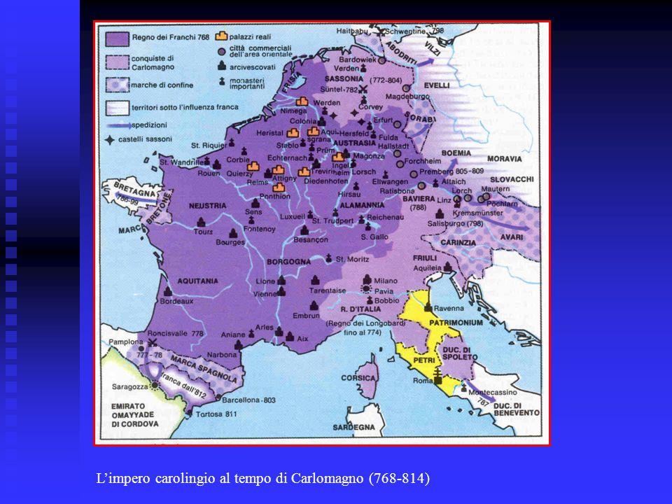 L'impero carolingio al tempo di Carlomagno (768-814)