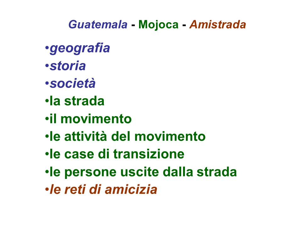 Guatemala - Mojoca - Amistrada