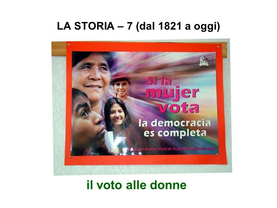 LA STORIA – 7 (dal 1821 a oggi) il voto alle donne