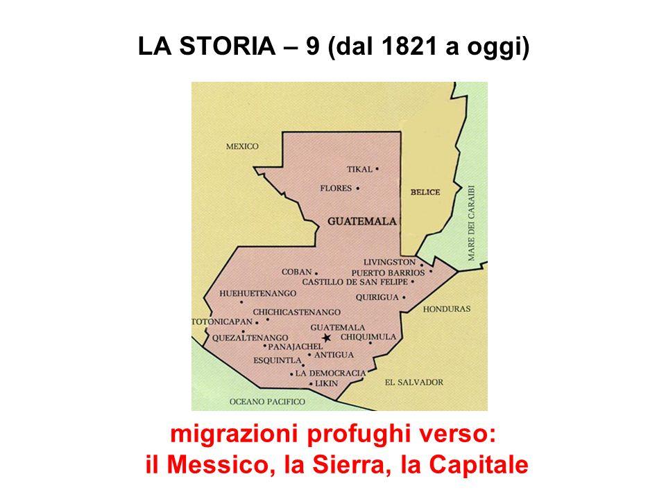 migrazioni profughi verso: il Messico, la Sierra, la Capitale
