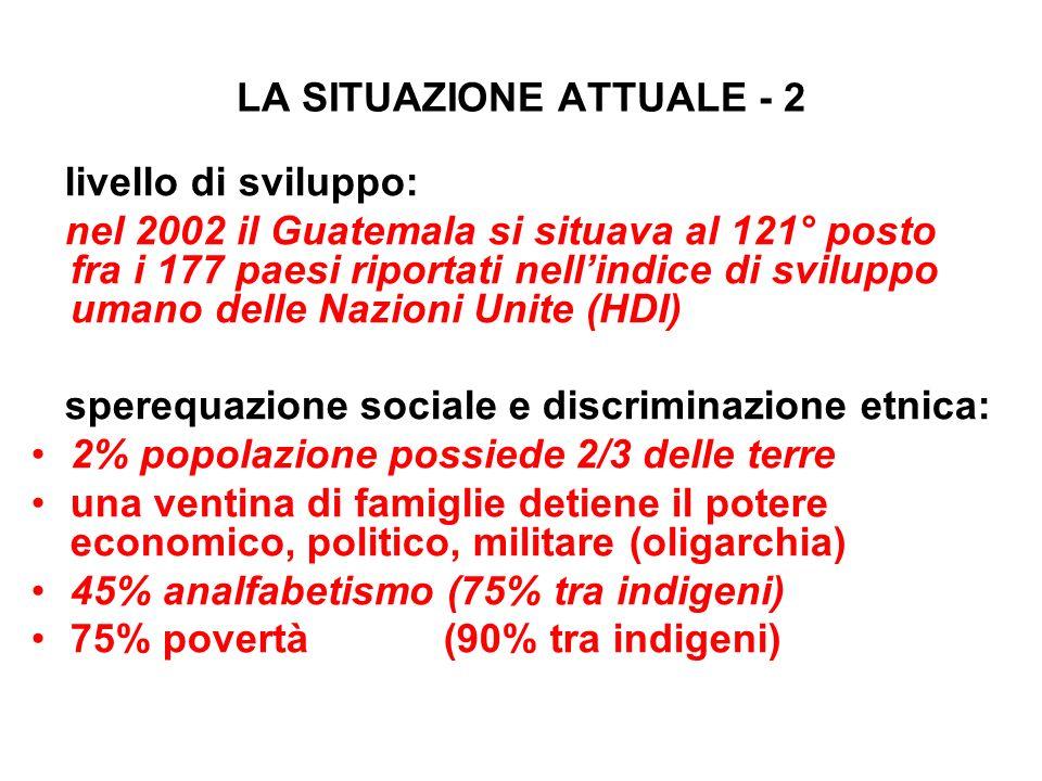 LA SITUAZIONE ATTUALE - 2