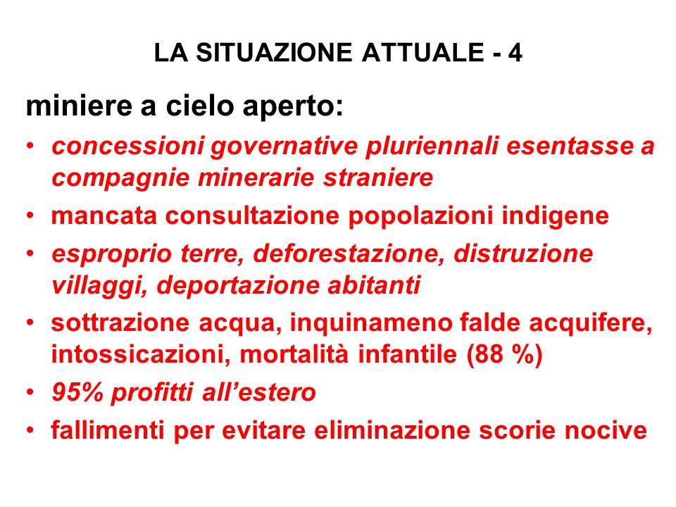 LA SITUAZIONE ATTUALE - 4