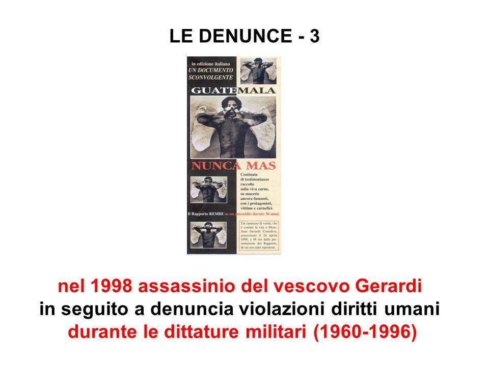 nel 1998 assassinio del vescovo Gerardi