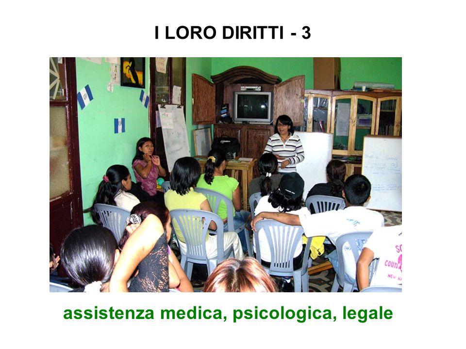 assistenza medica, psicologica, legale