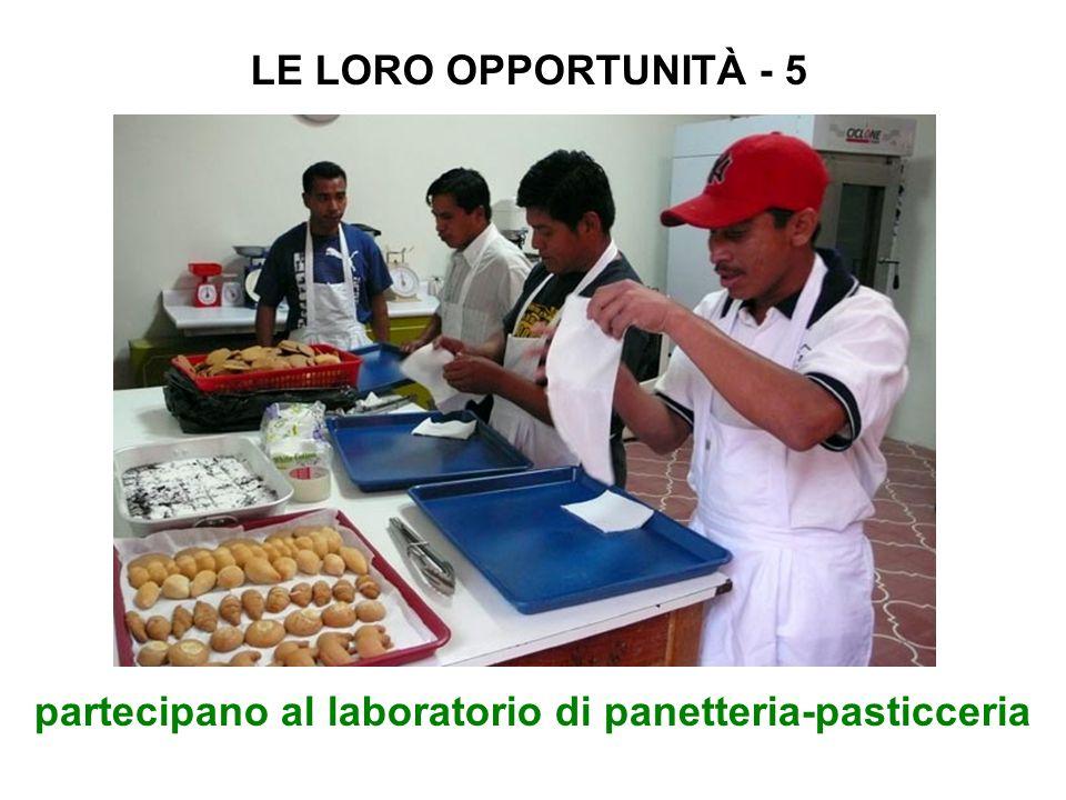 partecipano al laboratorio di panetteria-pasticceria