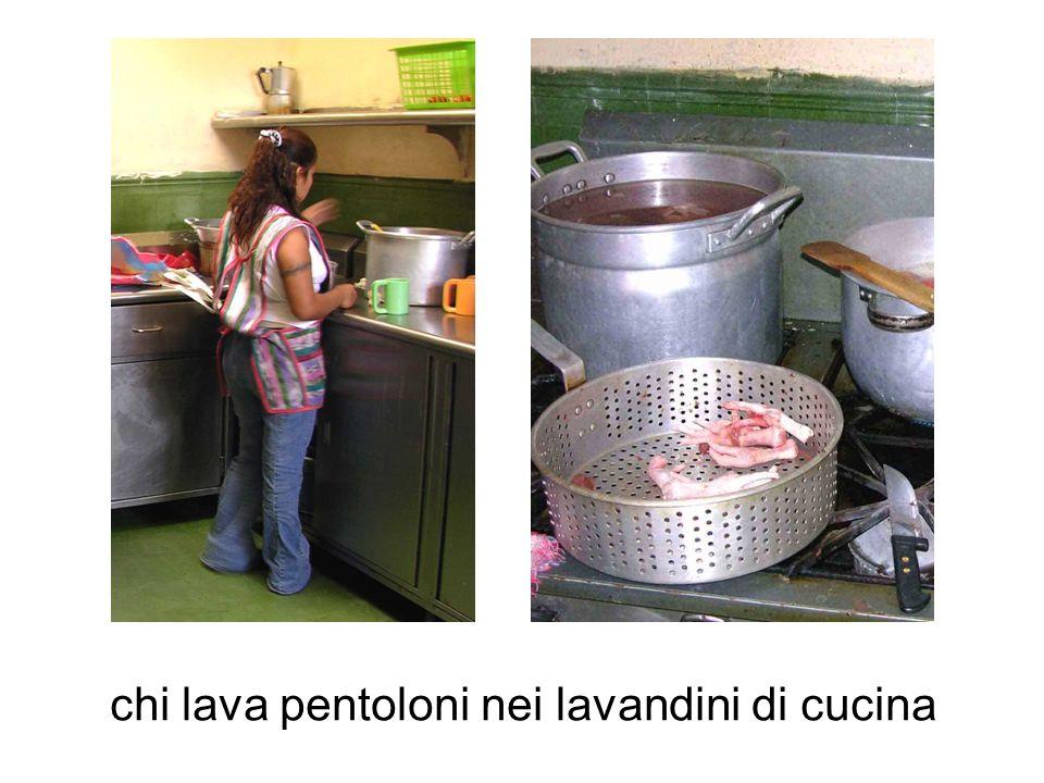 chi lava pentoloni nei lavandini di cucina