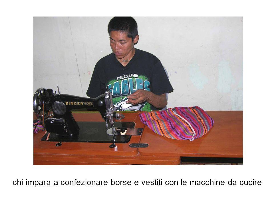 chi impara a confezionare borse e vestiti con le macchine da cucire