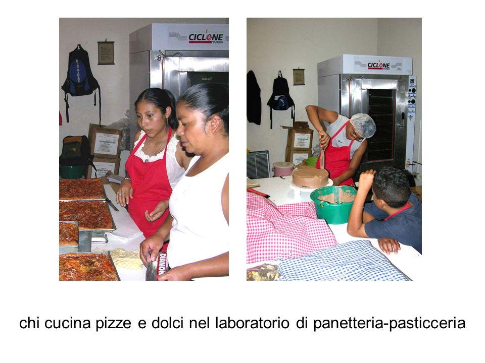 chi cucina pizze e dolci nel laboratorio di panetteria-pasticceria