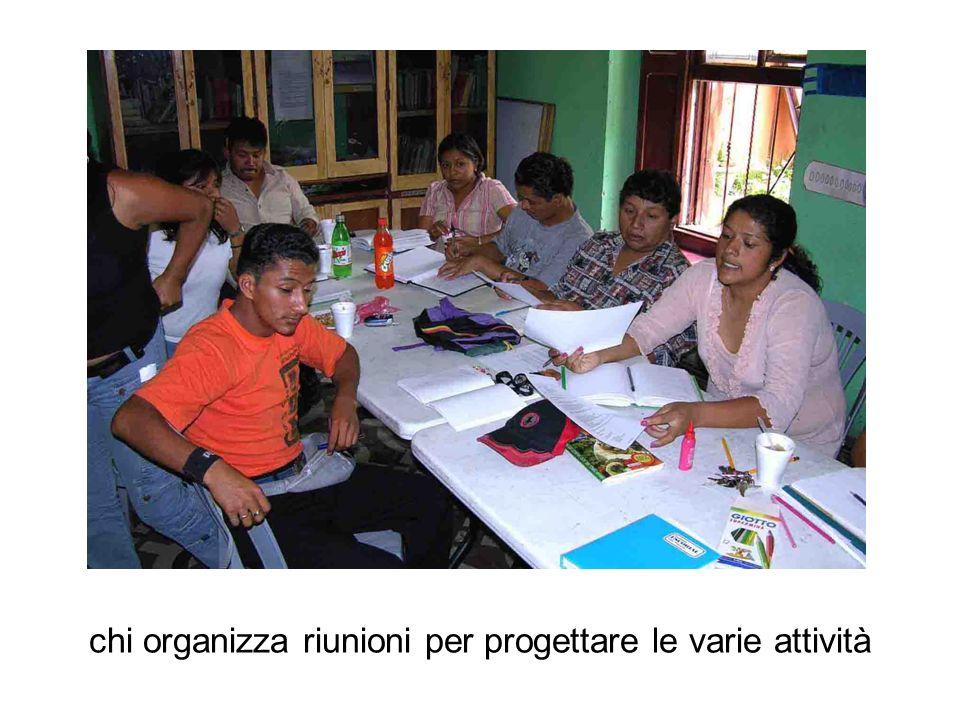 chi organizza riunioni per progettare le varie attività