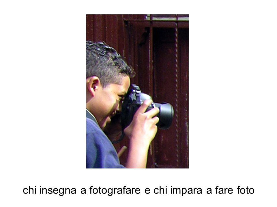 chi insegna a fotografare e chi impara a fare foto