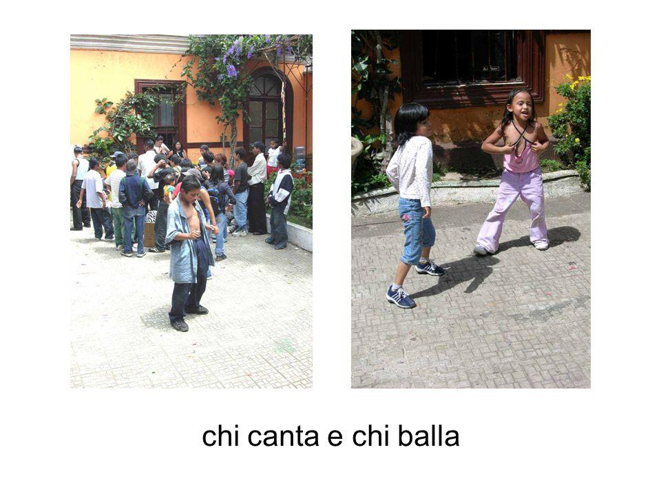 chi canta e chi balla