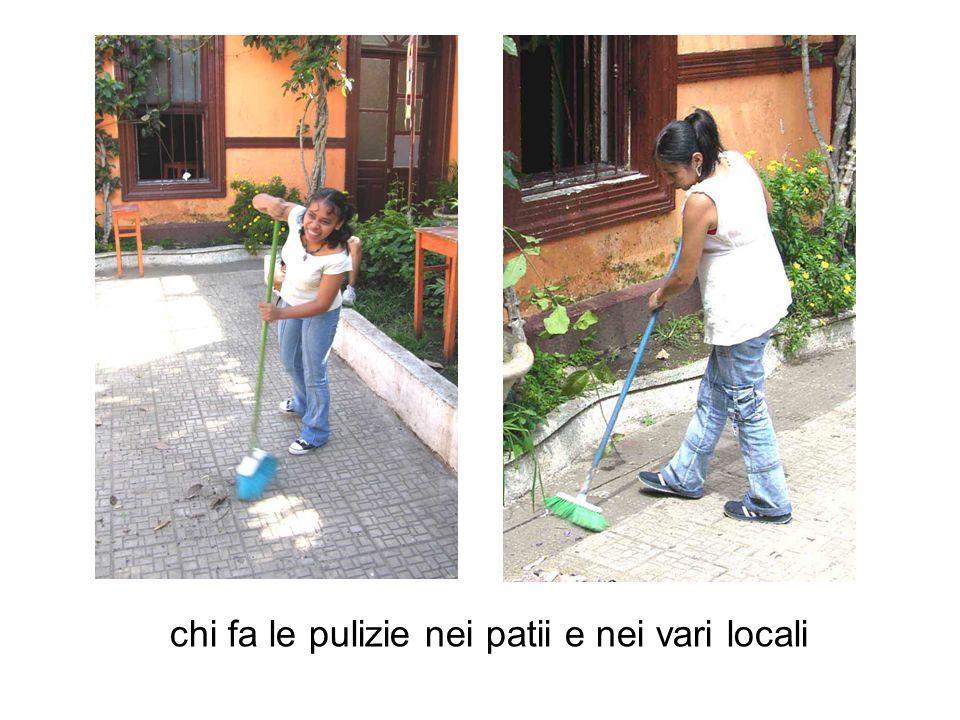 chi fa le pulizie nei patii e nei vari locali