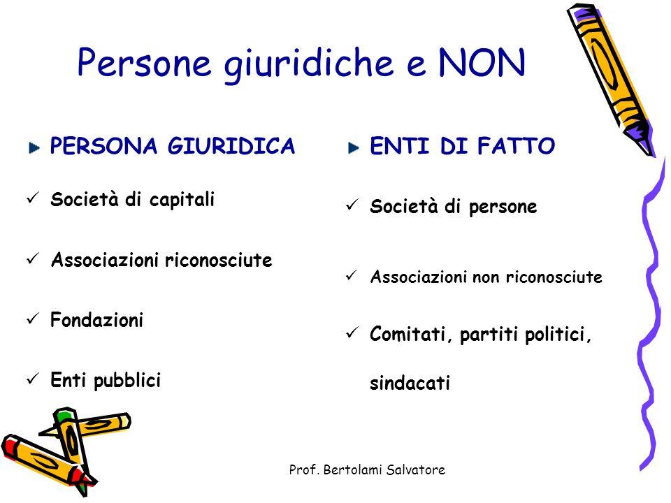 Persone giuridiche e NON