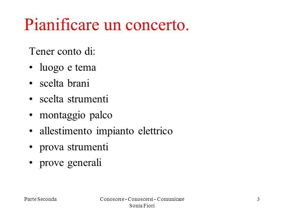 Pianificare un concerto.