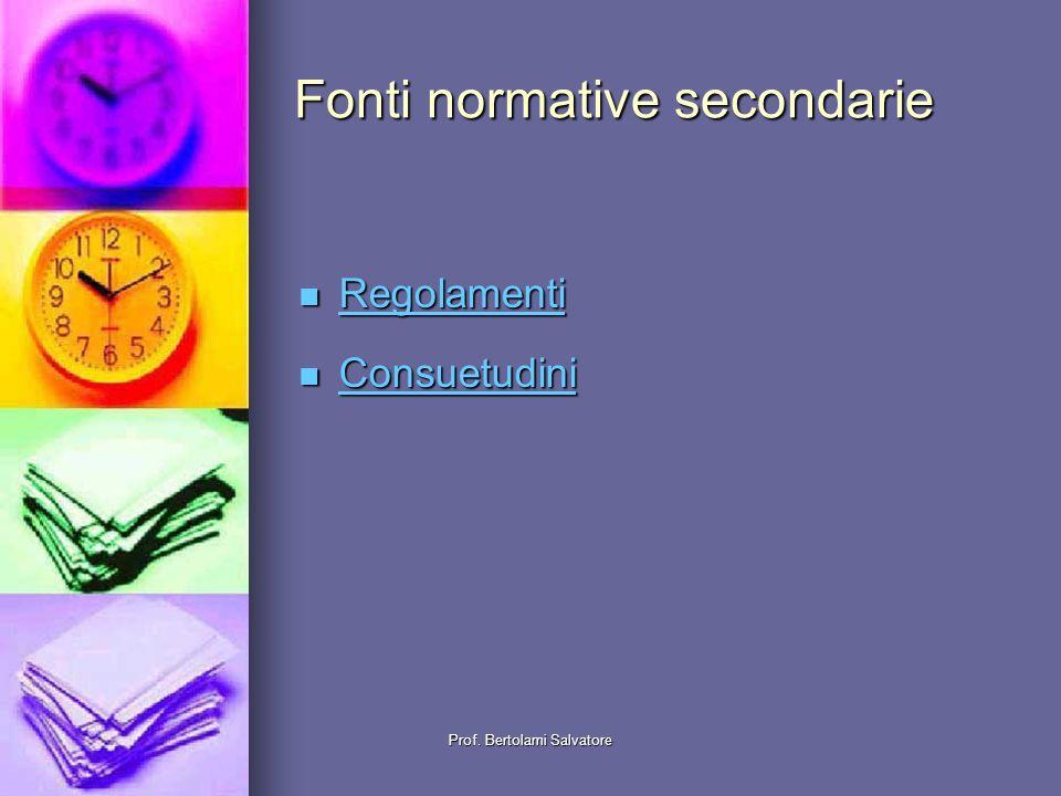 Fonti normative secondarie