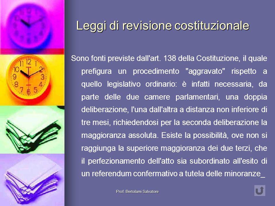 Leggi di revisione costituzionale