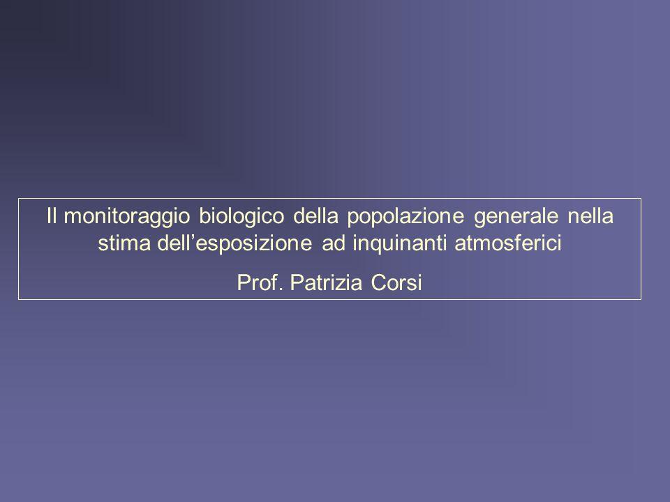 Il monitoraggio biologico della popolazione generale nella stima dell'esposizione ad inquinanti atmosferici
