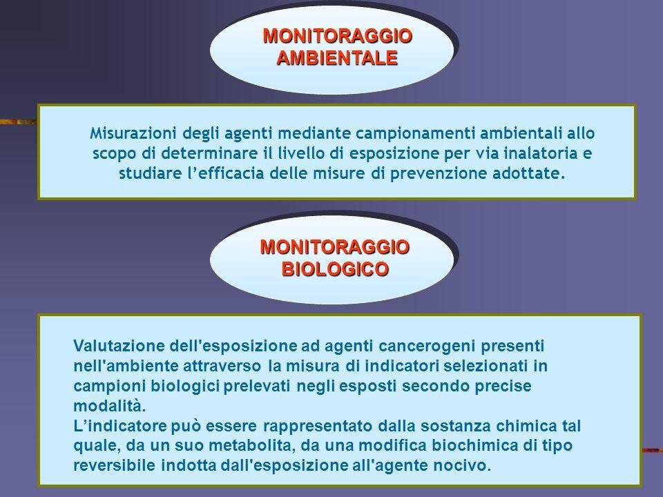 MONITORAGGIO AMBIENTALE MONITORAGGIO BIOLOGICO