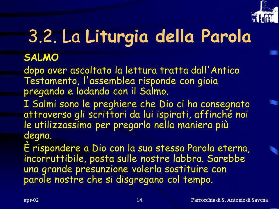3.2. La Liturgia della Parola