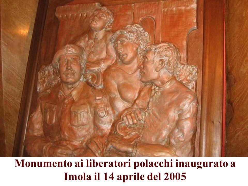 Monumento ai liberatori polacchi inaugurato a Imola il 14 aprile del 2005