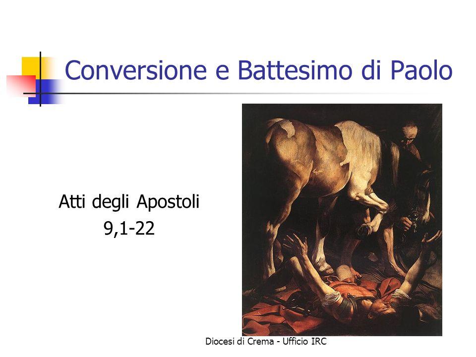 Conversione e Battesimo di Paolo